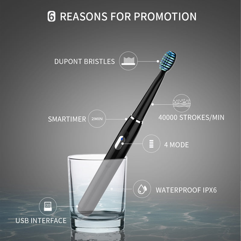 Electric Toothbrush Rechargeable Sonic Toothbrush
