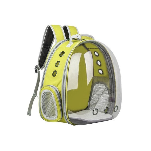 Portable Pet Cat Backpack Yellow