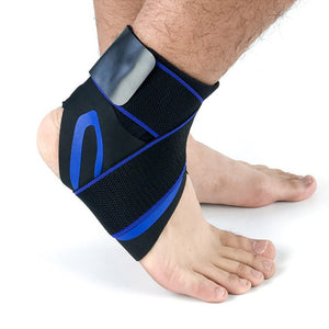 ANKLE SUPPORT STRAP Blue with strap / L Left