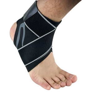 ANKLE SUPPORT STRAP Gray with strap / L Left