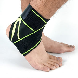 ANKLE SUPPORT STRAP Green with strap / L Left