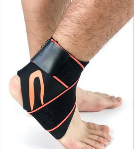 ANKLE SUPPORT STRAP Orange with strap / L Left