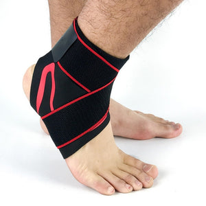 ANKLE SUPPORT STRAP Red with strap / L Left