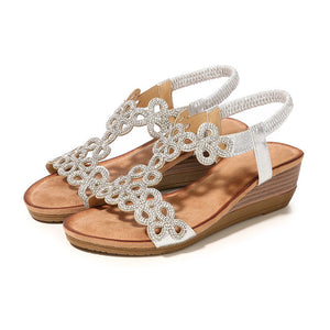 Ladies Crystal Casual Wedges SL / 35
