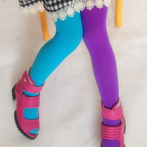 Candy Color Mixed Tights for girls 13 / One Size (3T-9T)