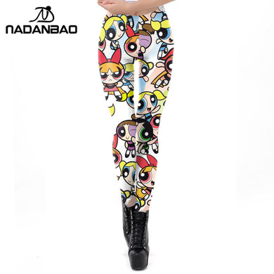 Cartoon Powerpuff Girls Women Leggings
