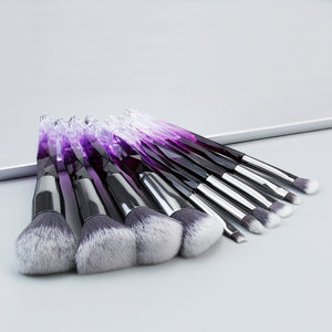 Diamond professional makeup brushes