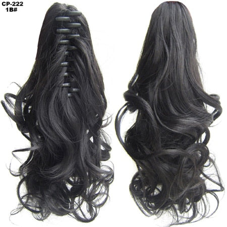 Heat Resistant Synthetic Hair Wavy Claw Clip 1B / Wavy 14 inches
