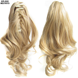 Heat Resistant Synthetic Hair Wavy Claw Clip M27-613 / Wavy 14 inches