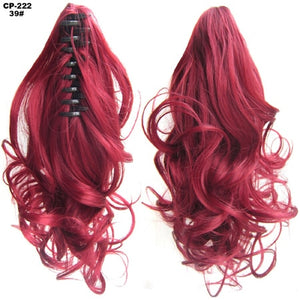 Heat Resistant Synthetic Hair Wavy Claw Clip 39 / Wavy 14 inches