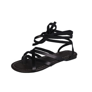 Casual comfortable gladiator sandals Black / 5