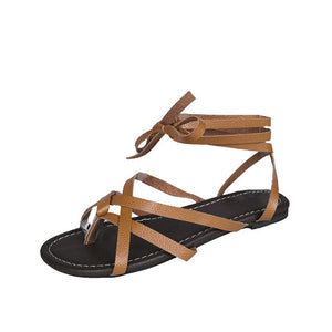 Casual comfortable gladiator sandals Brown / 5