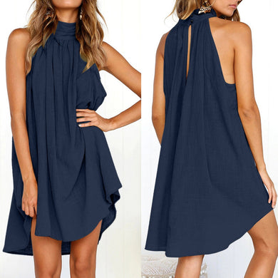 Ladies Summer Beach Sleeveless Dress