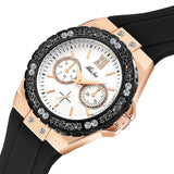 Chronograph Rose Gold Sport Watch Women 2593-3 / China