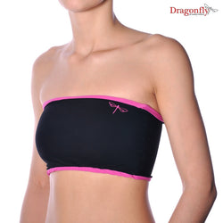 Hot yoga sports bra - tube design from lycra - Tube black / pink side