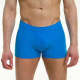 Men's pole dancing shorts - lycra comfort - Mike azure front