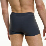Men's pole dancing shorts - lycra comfort - Mike grey back