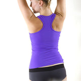 Pole dance and hot yoga tank top with bra - Christine purple back