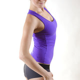 Pole dance and hot yoga tank top with bra - Christine purple side