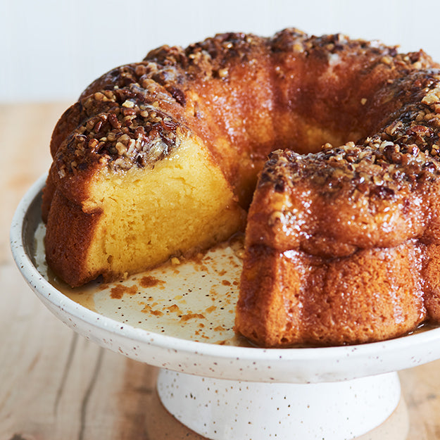 Traditional Rum Cake with Buttery Rum Glaze