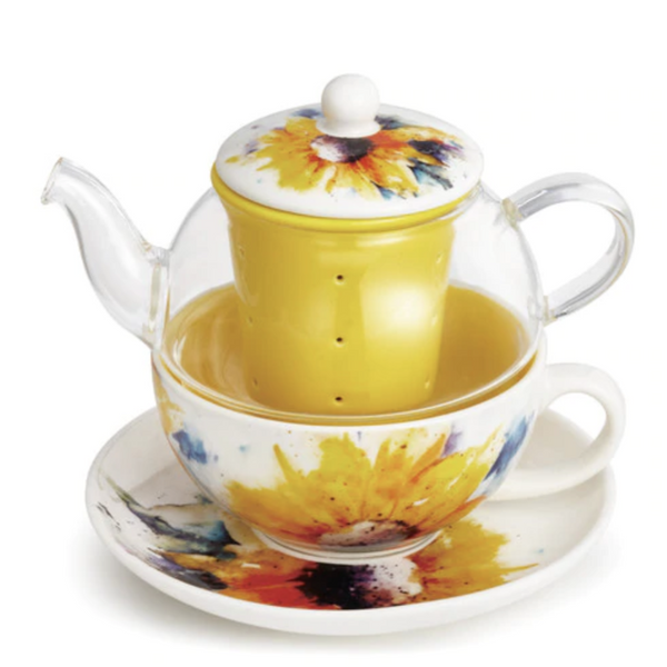 Tea Pot Set Sunflower