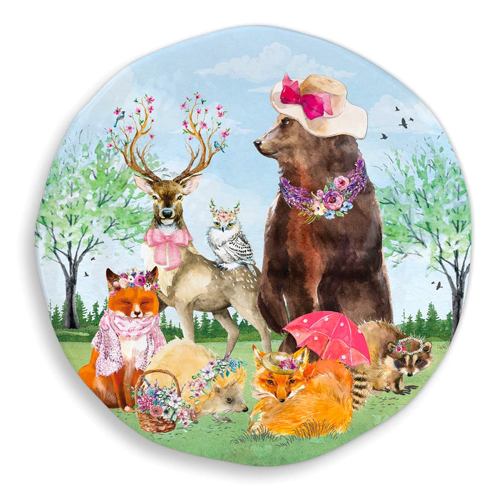 Garden Party Round Serving Tray