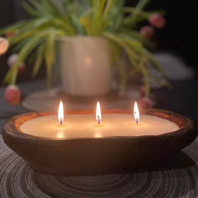 Dough Bowl Candle - Three Wick