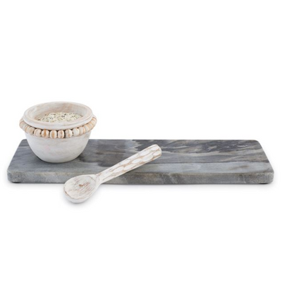 Serving Board Set Marble And Wood