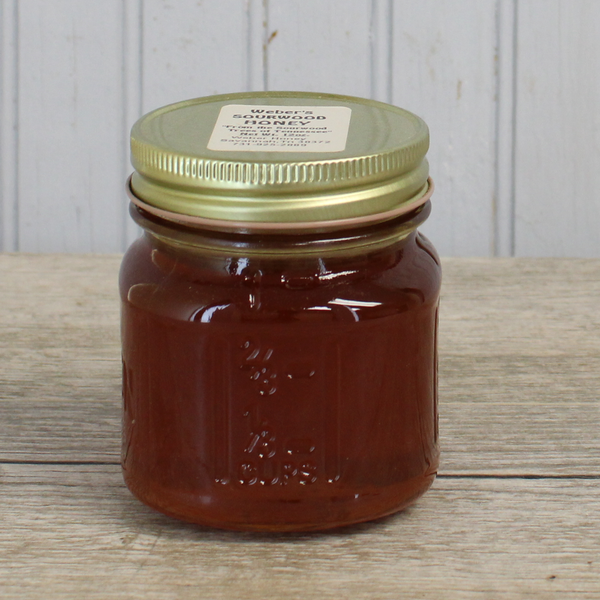 Strained Sourwood Honey 12 oz