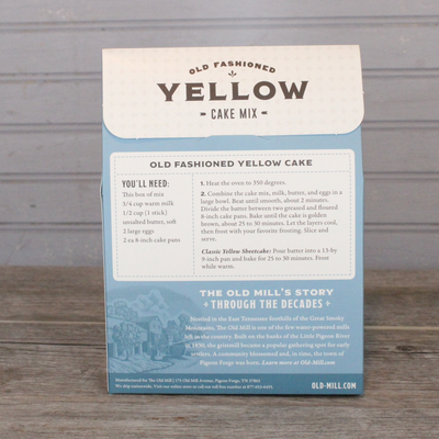 Old Fashioned Yellow Cake Mix