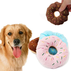 Chewable Donut Dog Toy With Sound - doggy in style