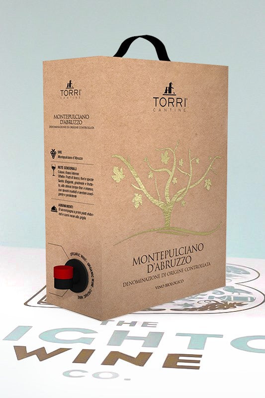 NEW! Torri Cantine 3L (4 Bottle) Montepulciano Bio-Organic Boxed Wine