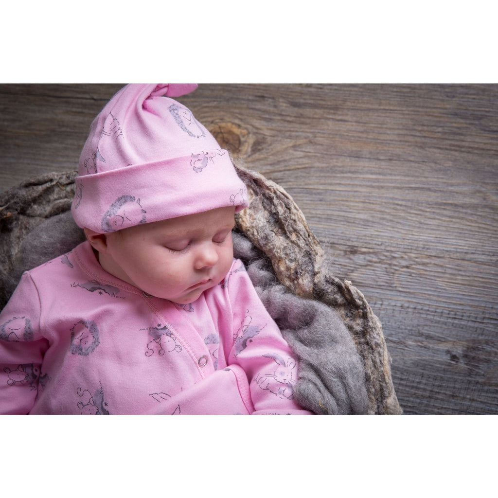 Baby Acorn Woodland Pink Baby Hat - Little Whispers