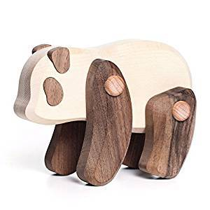 Bajo Wooden Jointed Panda Bear - Little Whispers