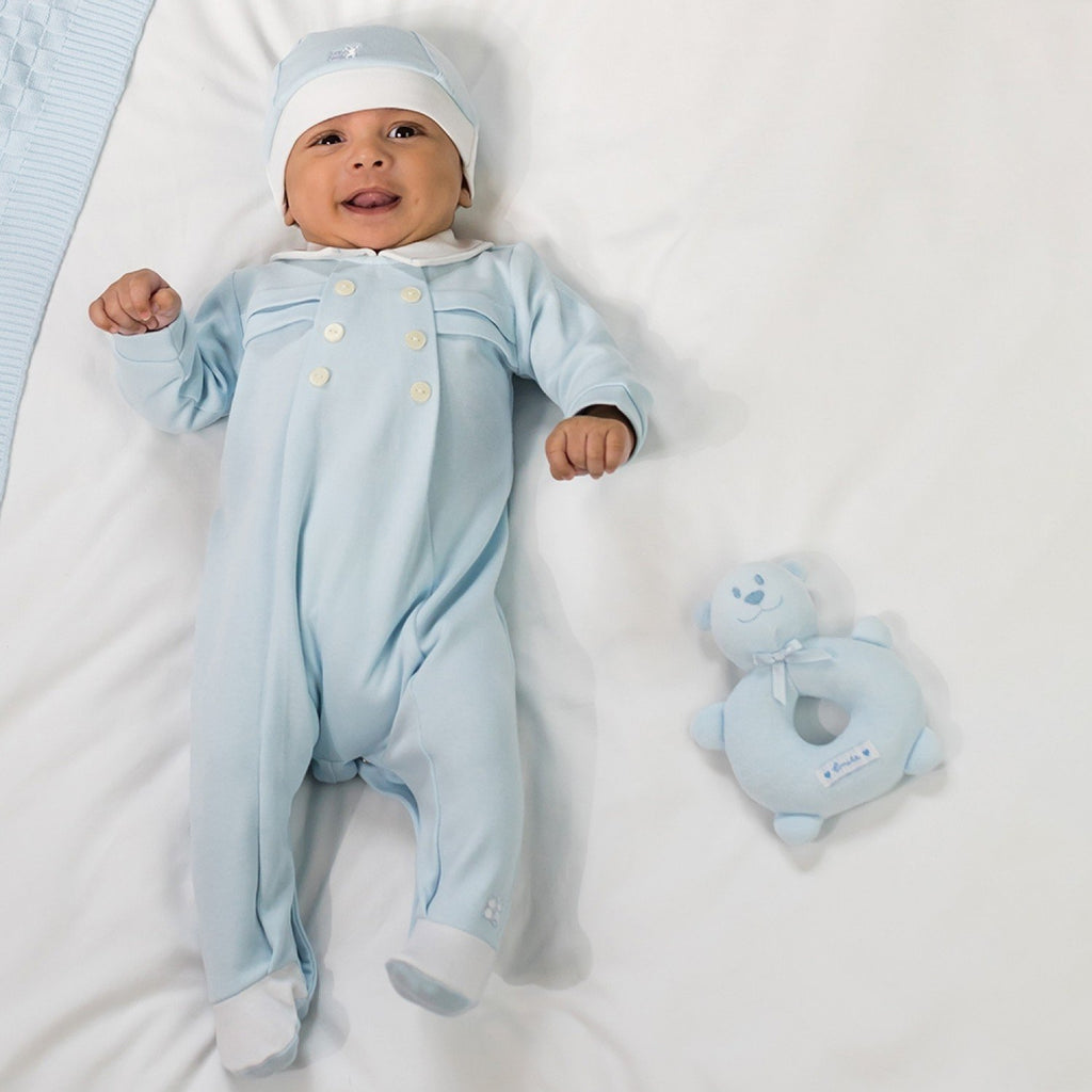 Emile et Rose Boys Sleepsuit and Hat - Little Whispers