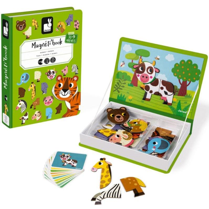 Janod Magnetic Book Animals - Little Whispers