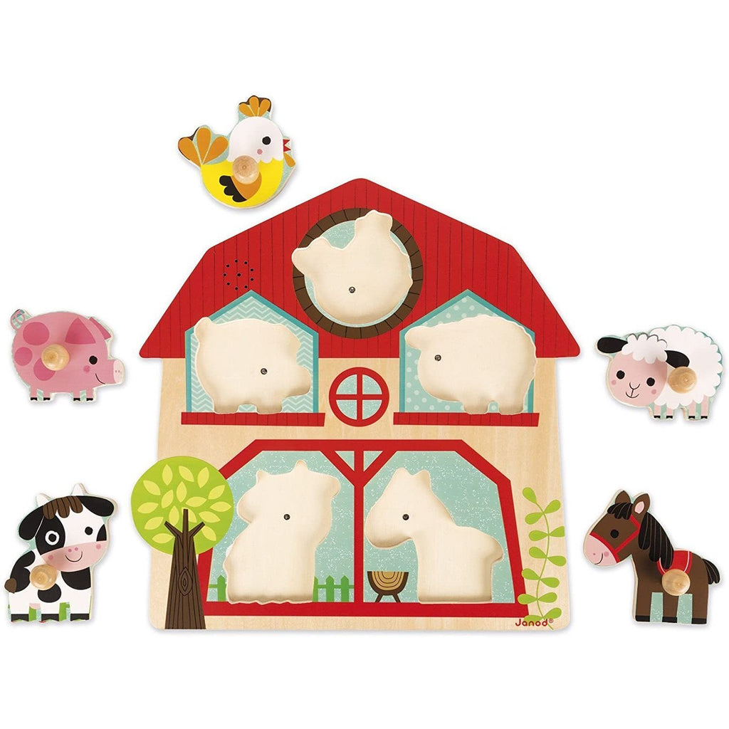 Janod Musical Farm Puzzle - Little Whispers