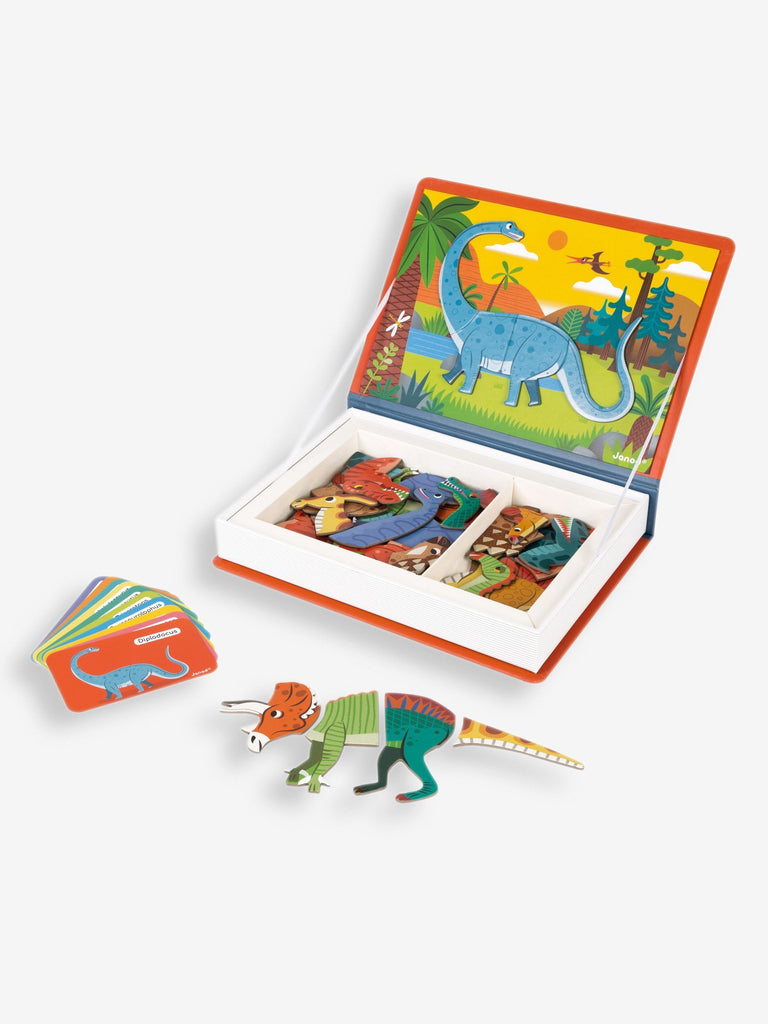 Janod New Dinosaur Magnetic Book - Little Whispers