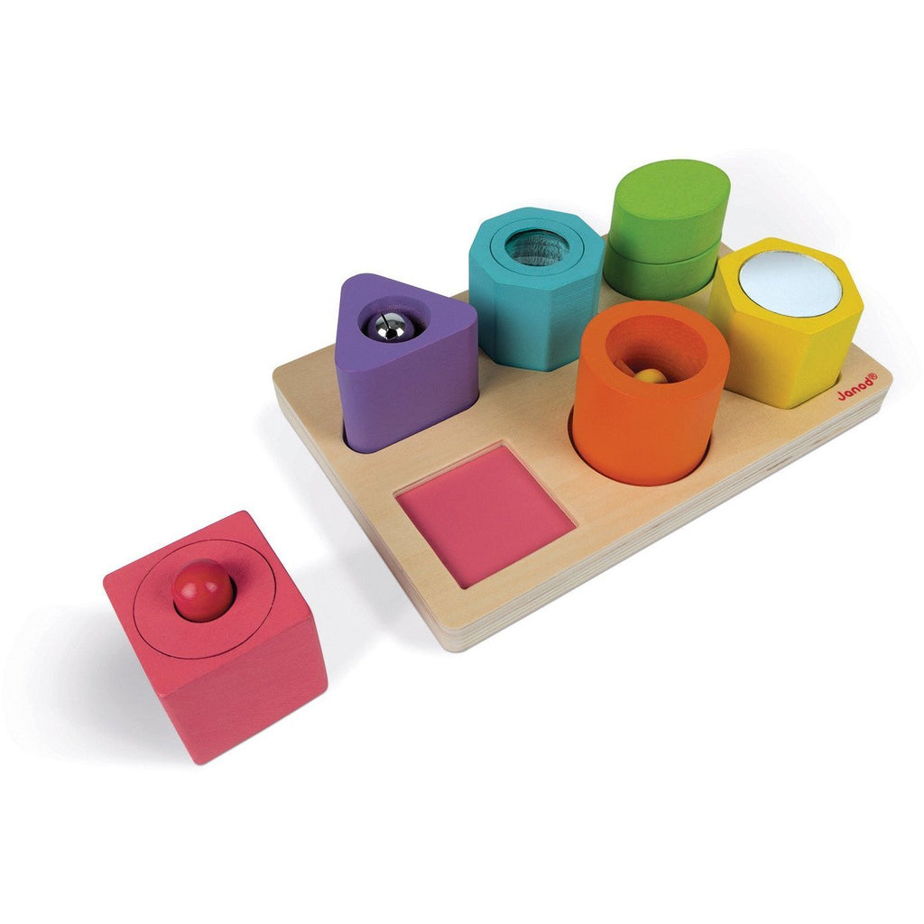 Janod Shapes and Sounds Block Puzzle - Little Whispers