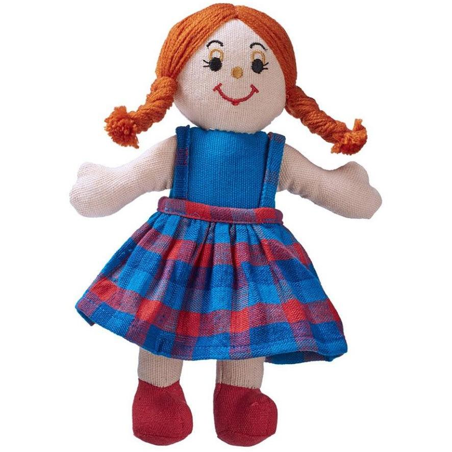 Lanka Kade Rag Doll With White Skin Red Hair - Little Whispers