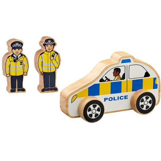 Lanka Kade Wooden Police Car - Little Whispers