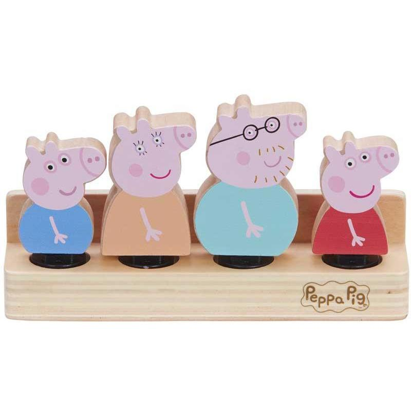 Peppa Pig Wooden Family Figures - Set of 4 - Little Whispers
