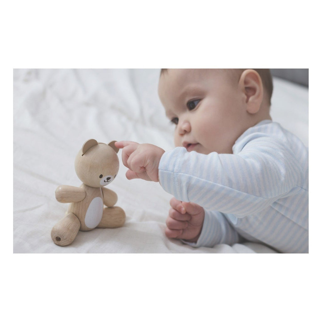 Plan Toys New Wooden Bear - Little Whispers