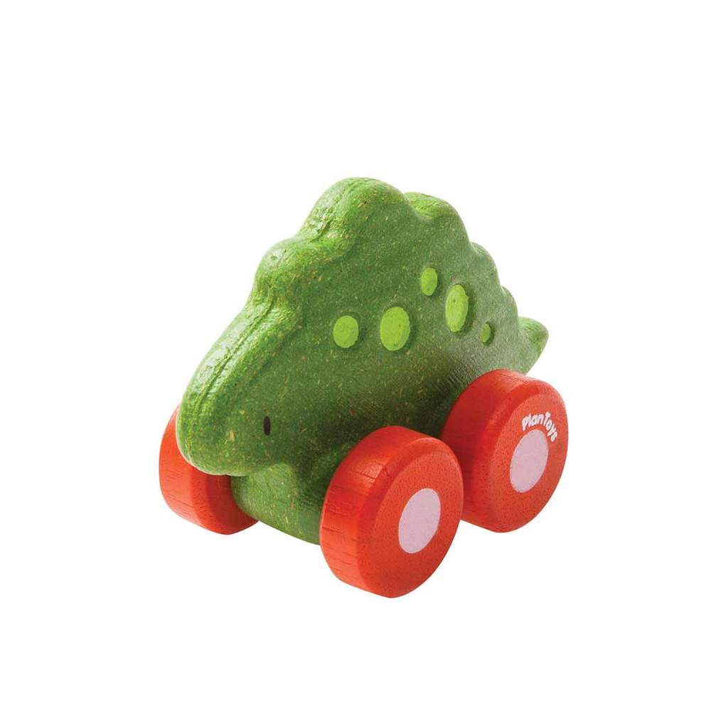 Plan Toys Wooden Dino Car - Stego - Little Whispers