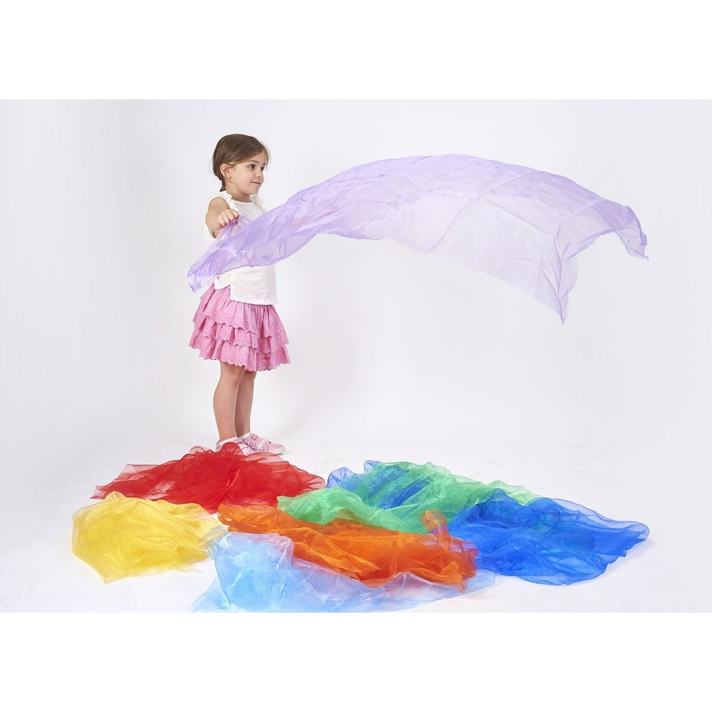 Rainbow Organza Play Silks - Little Whispers