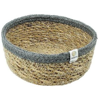 Respiin Seagrass Grey Basket Small - Little Whispers