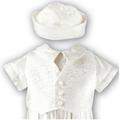 Sarah Louise Boys Silk Romper - Little Whispers