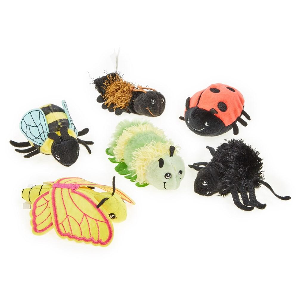 The Puppet Company Mini Beasts Set of 6 - Finger Puppets - Little Whispers