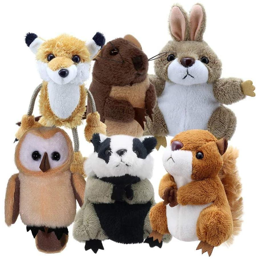 The Puppet Company Woodland Animals Set of 6 - Finger Puppets - Little Whispers