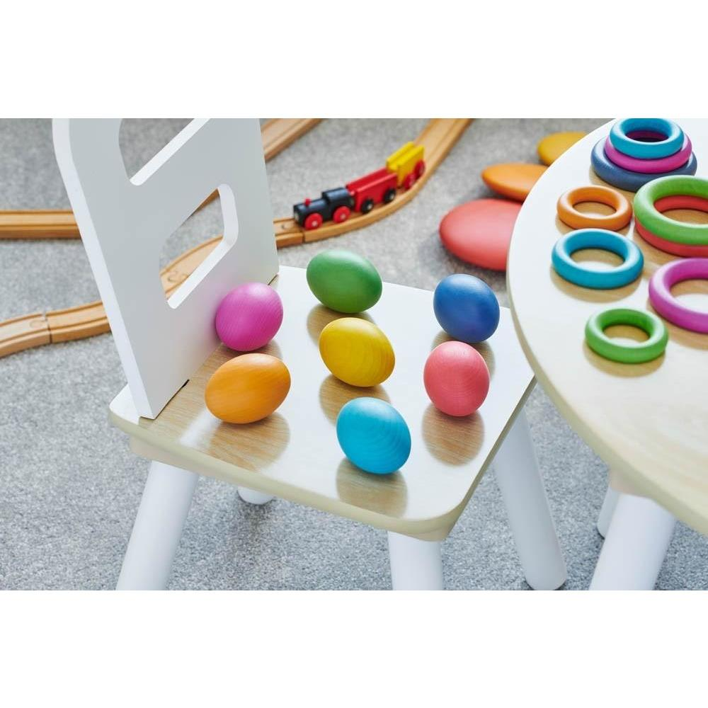TickiT Rainbow Wooden Eggs - Little Whispers